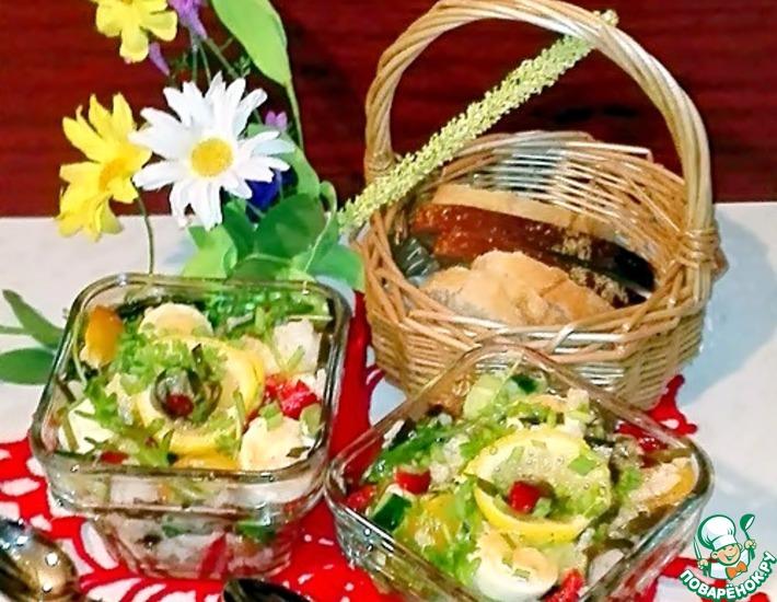 Рецепт: Рисовый салат с треской