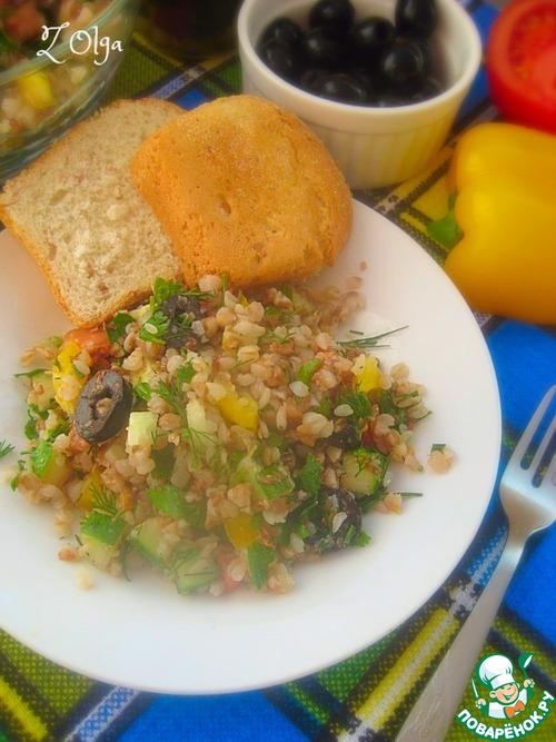 Рецепт Гречневый салат с овощами