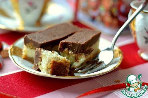 Рецепт Новогоднее орехово-кокосовое пирожное