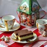 Новогоднее пирожное орехово-кокосовое
