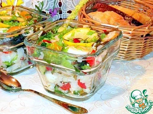 Рецепт Рисовый салат с треской