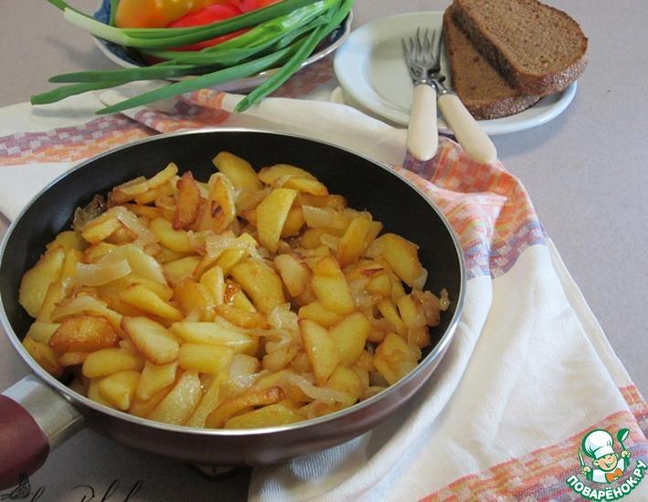 Рецепт: Жареный картофель по-одесски
