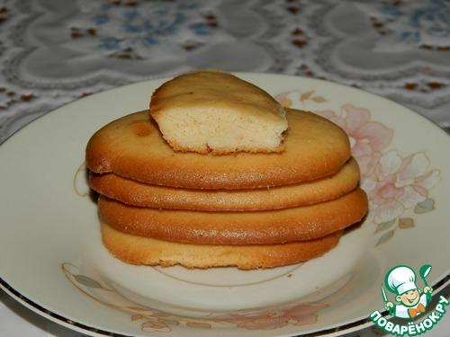 Рецепт Тонкое печенье на сухом молоке