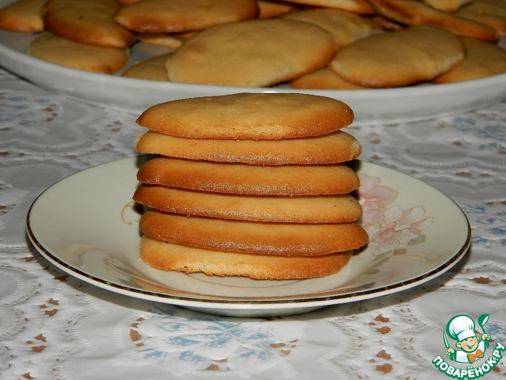 Тонкое печенье на сухом молоке