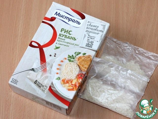 Новогодние рисовые коржики с изюмом