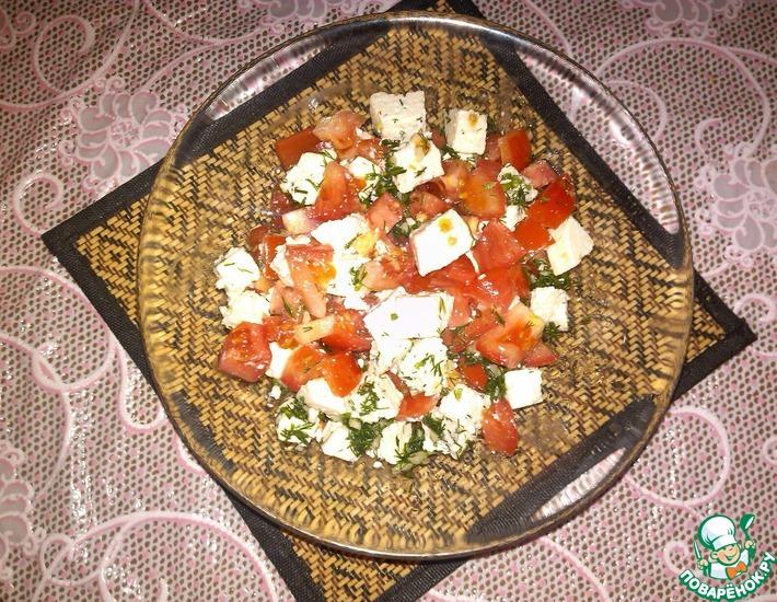 Рецепт: Салат из помидоров с фетой