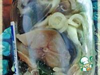 Ставрида, посоленая с луком ингредиенты