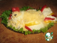 "Куриный салат с ананасами капустой ""Петушок"" ингредиенты"