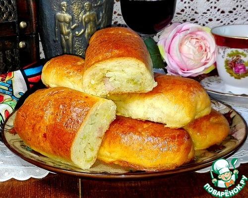 Рецепт Пирожки с ветчиной и рисом
