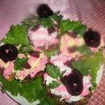Печеночные пирожные Розовые розы