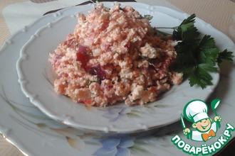 Рецепт: Сырный салат с белорыбицей