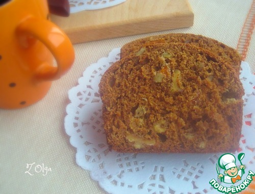 Рецепт Медовый кекс с орехами и изюмом