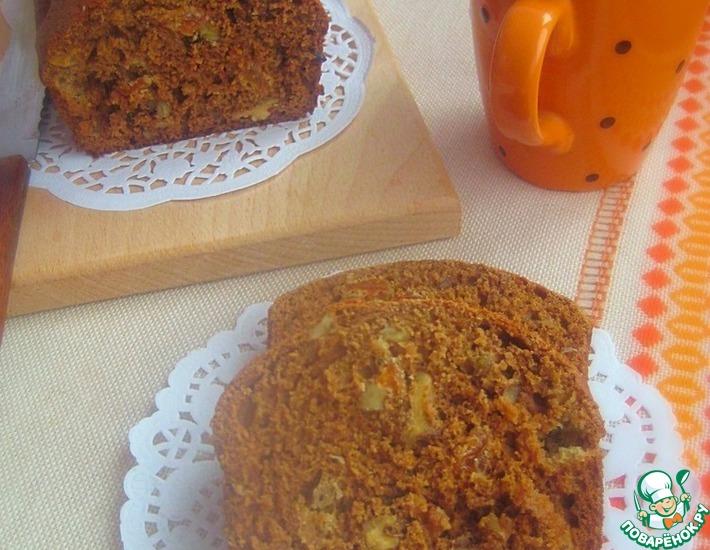 Рецепт: Медовый кекс с орехами и изюмом