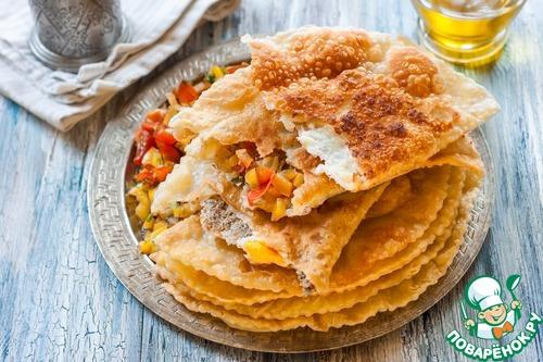 Рецепт Крымские чебуреки