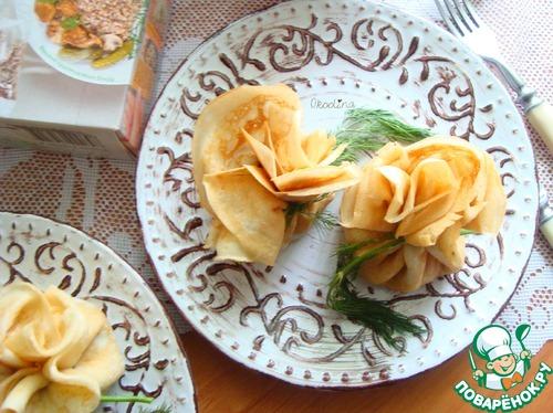Рецепт Фаршированные блинчики с лесными грибами