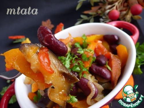 Рецепт Овощное рагу из баклажанов с фасолью