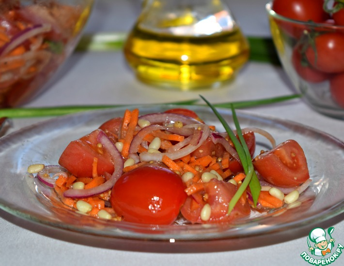 Рецепт: Салат из помидоров Привет из лета