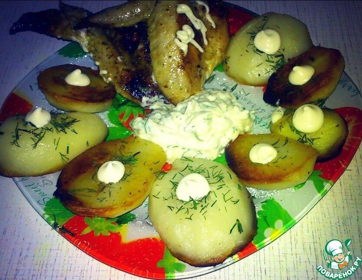 Рецепт: Картофель с чесночным соусом