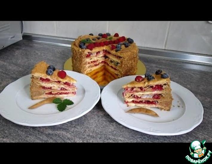 Рецепт: Торт Наполеон с двумя кремами