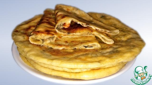 Рецепт Хычины с сыром и зеленью