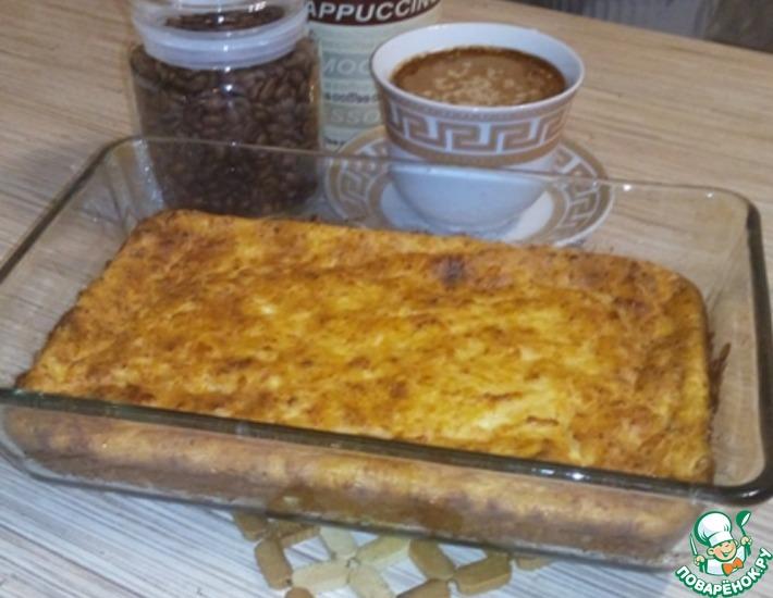 Рецепт: Творожный пудинг с яблоком и корицей
