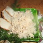 Салат с курицей и редькой