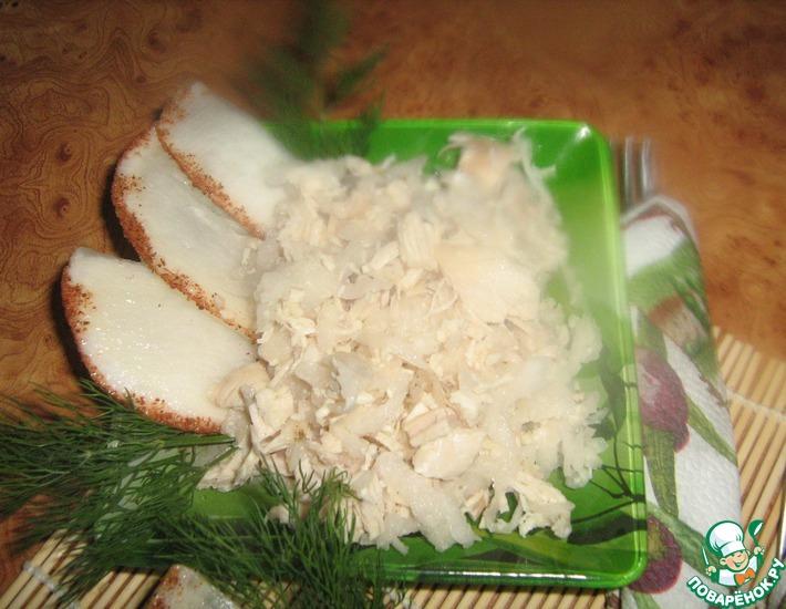 Рецепт: Салат с курицей и редькой