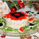 Салат с кальмарами Праздничный
