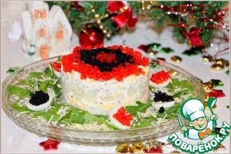 Рецепт: Салат с кальмарами Праздничный