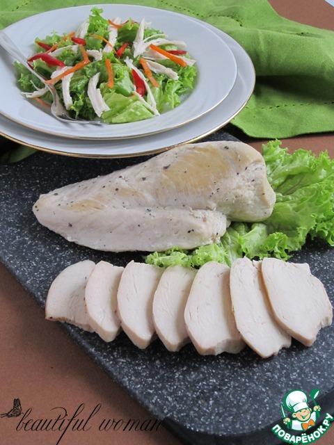 Рецепт Куриное мясо для салатов