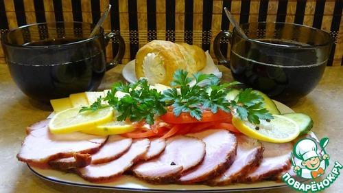 Рецепт Свиная шея копчено-вареная