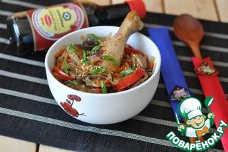 Рецепт: Тушеная курица с овощами Дакжим
