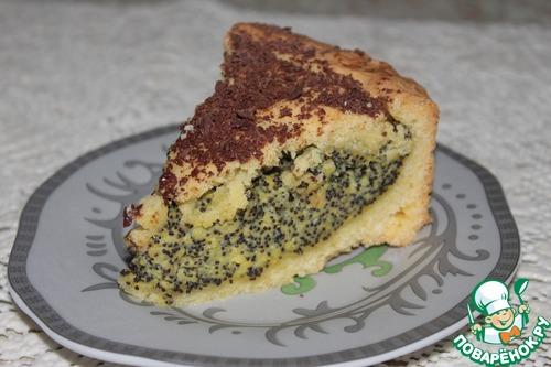 Рецепт Баскский пирог с маковым заварным кремом
