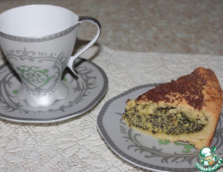 Рецепт: Баскский пирог с маковым заварным кремом