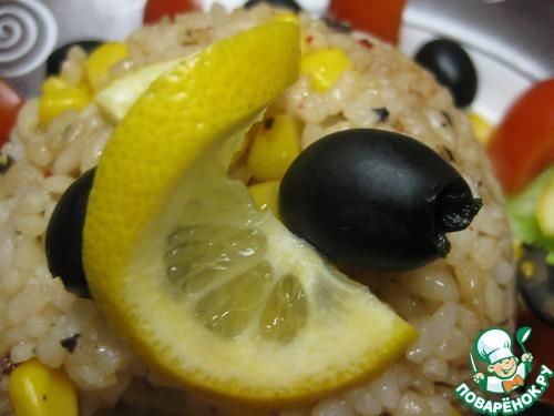 Рецепт Рыба с оливками и ароматным рисом