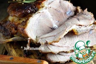 Рецепт: Запеченная свинина на кости