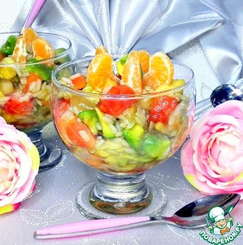 Рецепт Десерт с рисом фруктами