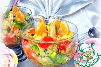 Рецепт: Десерт с рисом и фруктами