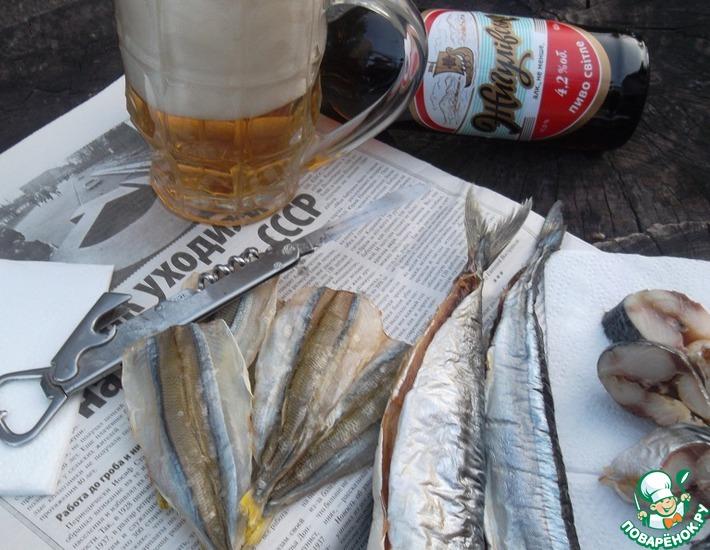 Рецепт: Вяленая рыба в электросушилке