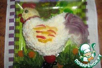 Рецепт: Куриный салат Жареный петушок