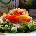 Сырный салат с коричневым рисом