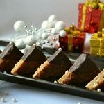 Новогоднее пирожное Ореховые треугольники