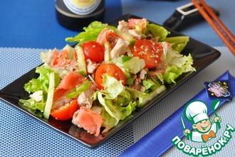 Рецепт: Японский салат с курицей и имбирем