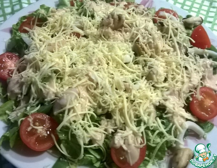 Рецепт: Салат с морепродуктами