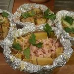 Картофель с начинкой в фольге