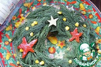 Рецепт: Салат Рождественский венок