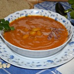 Морковный суп с фасолью