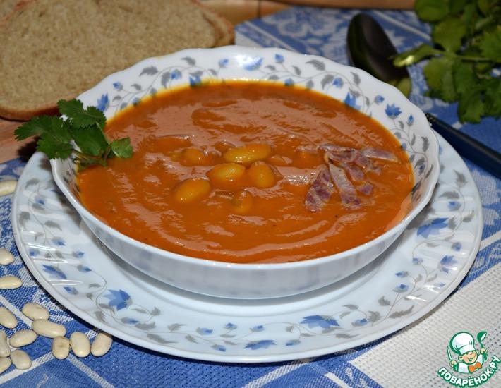 Рецепт: Морковный суп с фасолью