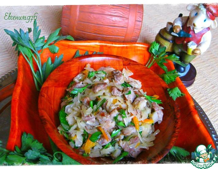 Рецепт: Салат из квашеной капусты Баварский