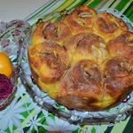 Пирог творожно-тыквенный